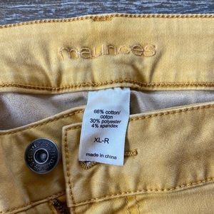 Maurices Jeans - Maurices Mustard Jeggings size XL regular